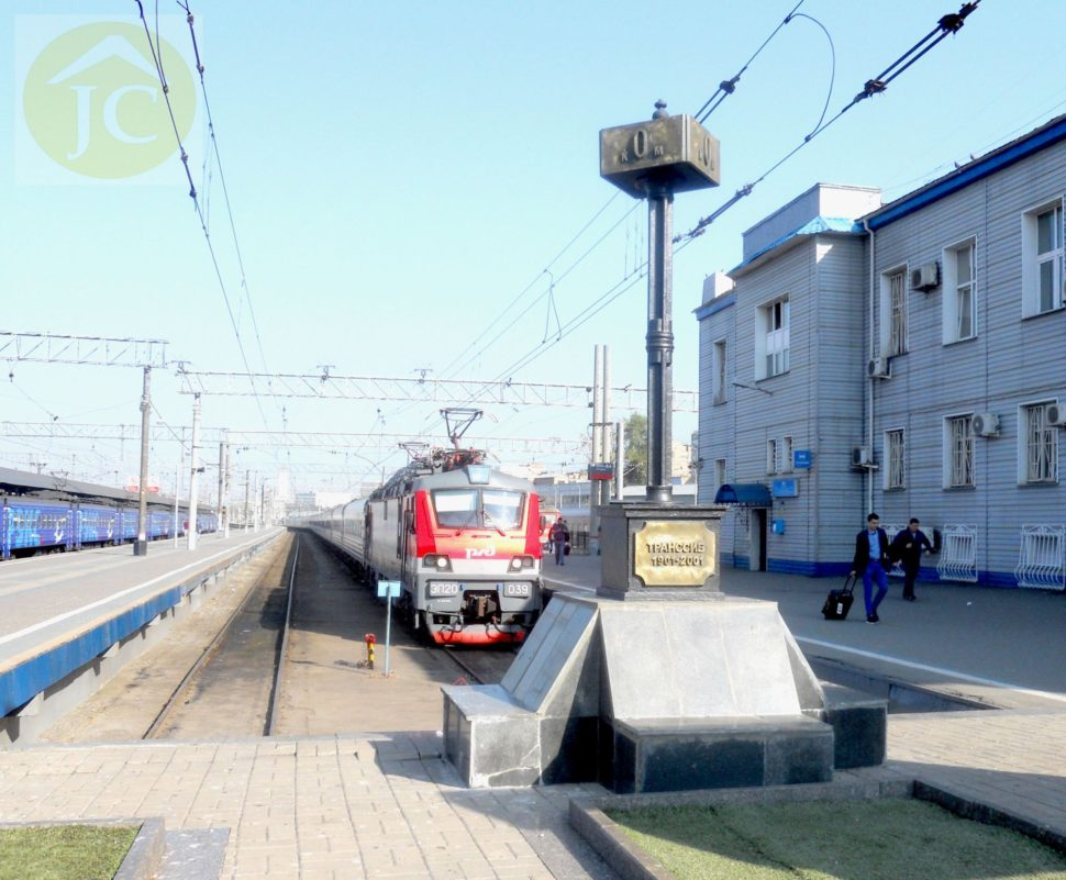 Začátek Transsibiřské magistrály - Moskva - symbolický 0. kilometr naJaroslavlském nádraží