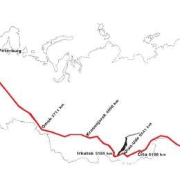 Transib - mapa Transibiřské magistrály